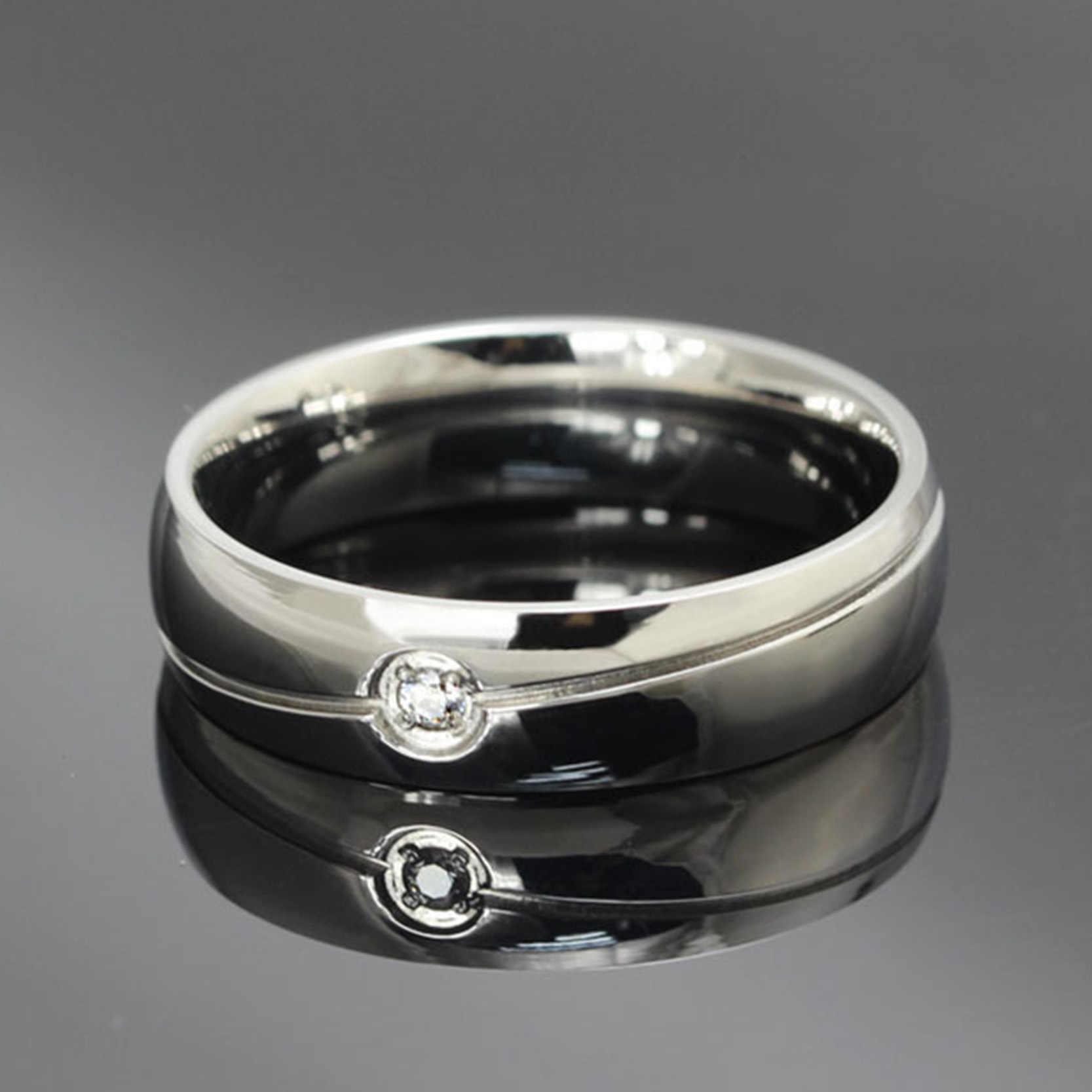 Jiayiqi модное горячее геометрическое черное серебряное кольцо из титановой стали для мужчин и женщин, ювелирное изделие 2017, Рождественский подарок