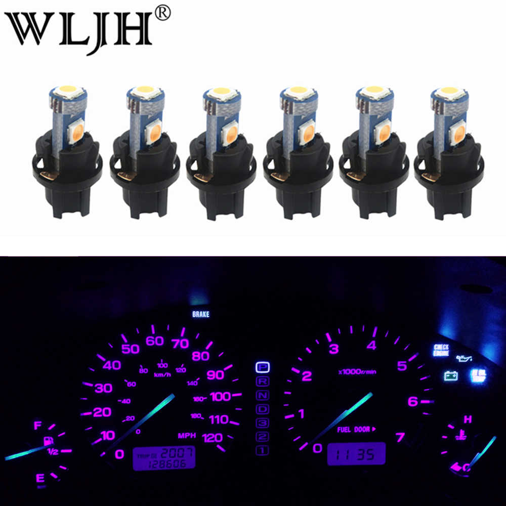 WLJH 6x PC74 T5 LED Light Lamp Car Instrument Panel Light Dashboard Bulbs for Honda Accord CR-V Civic Odyssey Prelude CRX S2000