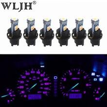 WLJH 6x PC74 T5 LED 라이트 램프 혼다 어코드 CR V Civic Odyssey Prelude CRX S2000 용 자동차 계기판 라이트 대시 보드 전구