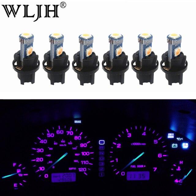 WLJH 6x PC74 T5 lampa ledowa przyrząd samochodowy Panel oświetleniowy Dashboard żarówki dla Honda Accord CR V Civic Odyssey Prelude CRX S2000