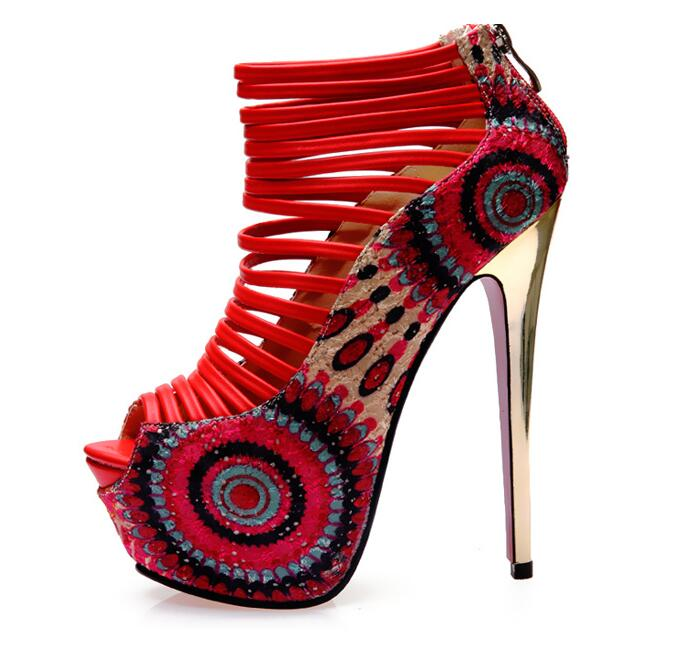 Paquete Con Aguja Hebilla Correa Tacones Un rojo De A Largo Y 14 Una Par  Prueba Zapatos Correo 11 ... 38011387c19d