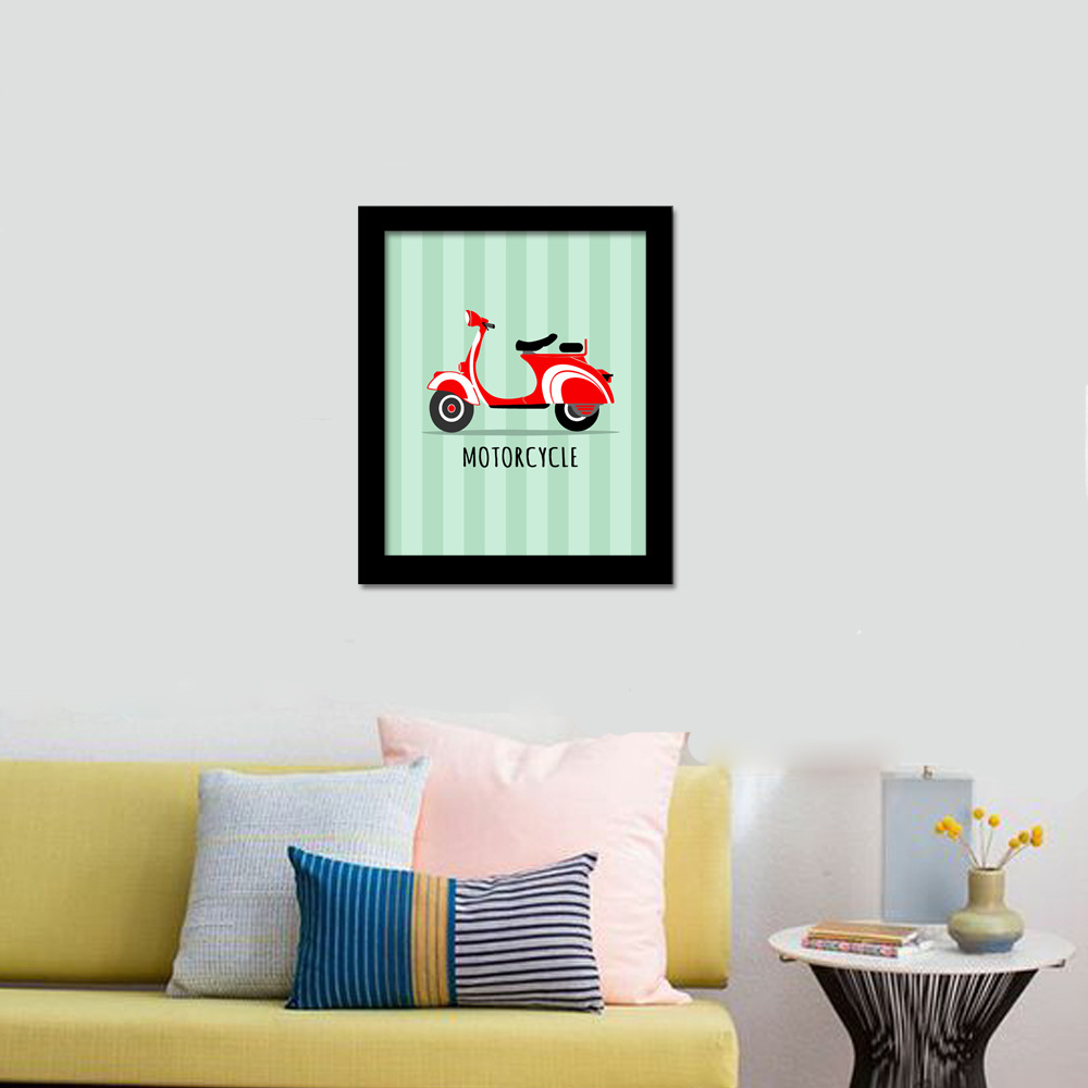 Baby Shower Gifts Cute Cartoon Bicycle Motorcycle Motivational ...
