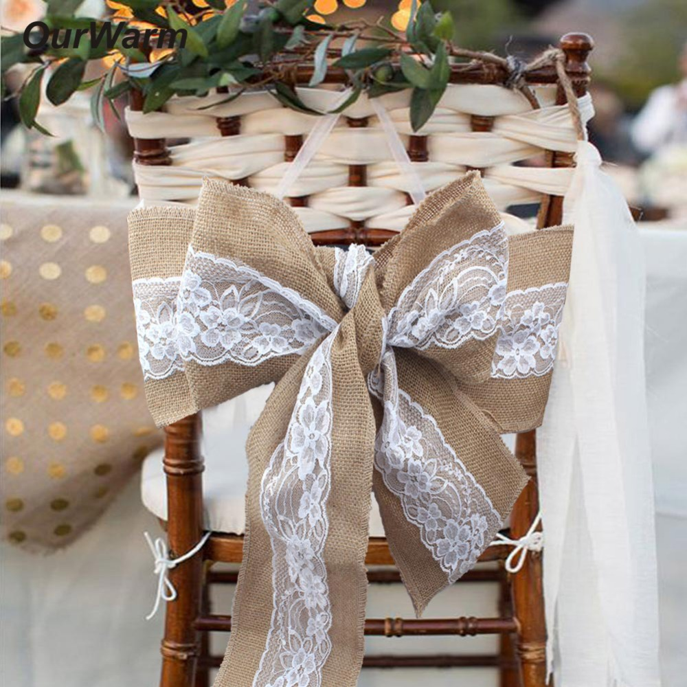 Diy Burlap Wedding Ideas: OurWarm Rustic Wedding Decoration 18X275CM Lace Burlap