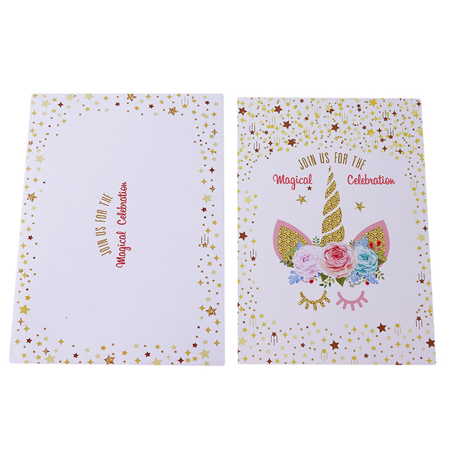12pcs unicorn invitations card unicorn party cute birthday party