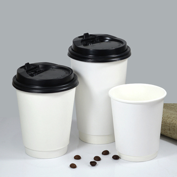 8oz 200 sets with lid,Disposable thickening paper cup,milk tea cup,cowhide double layer paper cup,coffee, hot drink paper cup