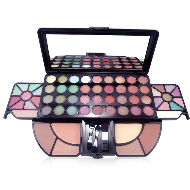 Beauty Makeup Eyeshadow Blush Set Professional 62 Full Color Mineral Shimmer  Eyeshadow Brush Cosmetic Make Up Palette Kit