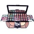 Beleza Da Sombra de Maquiagem Mineral Corar Set Professional 62 Full Color Shimmer Eyeshadow Escova Cosmética Make Up Kit Palette
