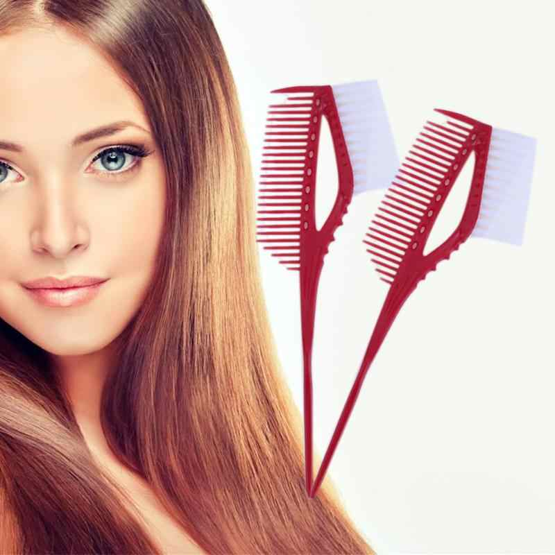 Plastic Hair Dye Coloring Brush Comb Barber Salon Tint Hairdressing Styling Tool Pro Hair Color Combs With Brush