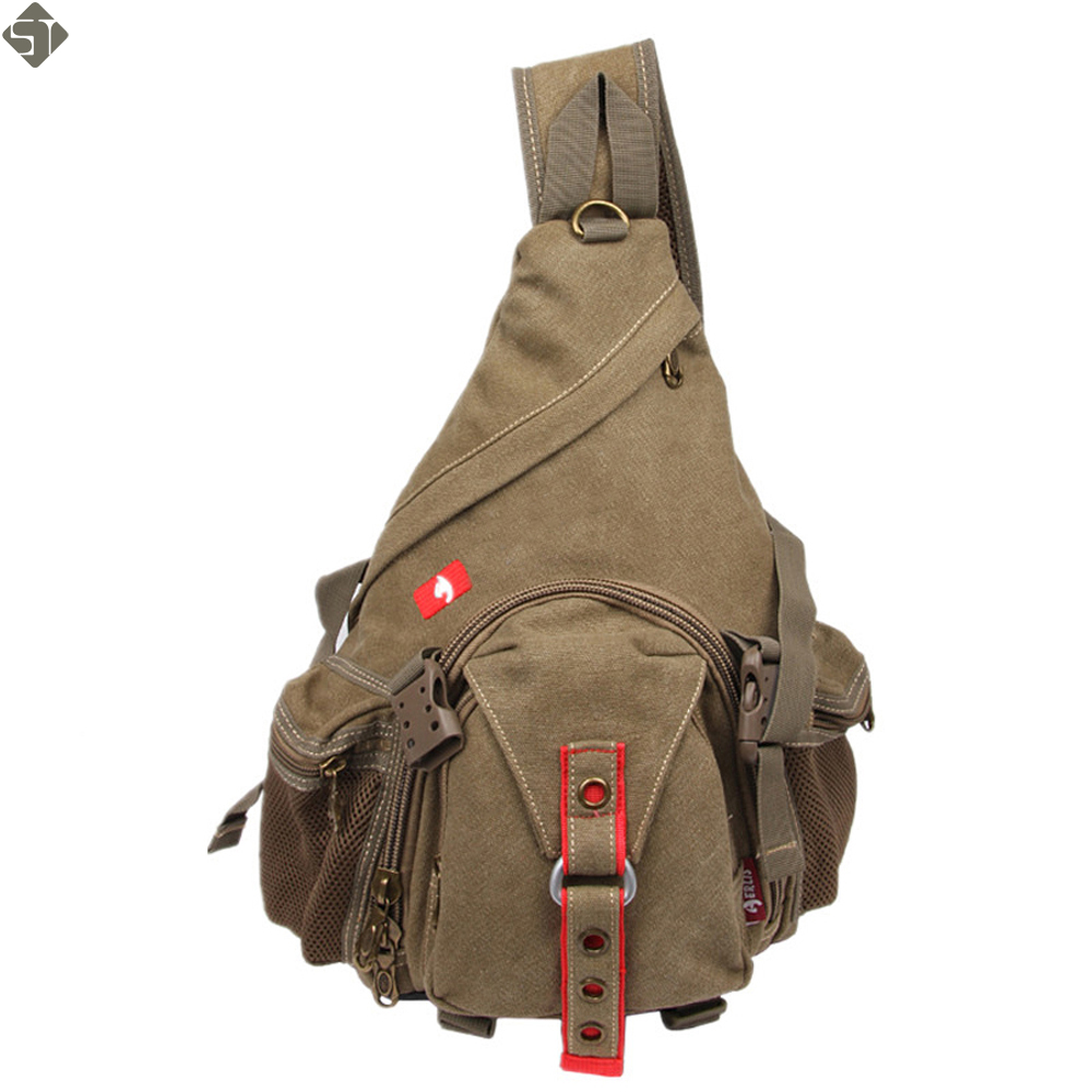 Nouveau 2017 Mode Équipement Multifonction Poitrine sacs toile homme  Messenger Sacs, Hommes Unisexe Épaule Sacs À Dos Pack sacs ca245b43f7f