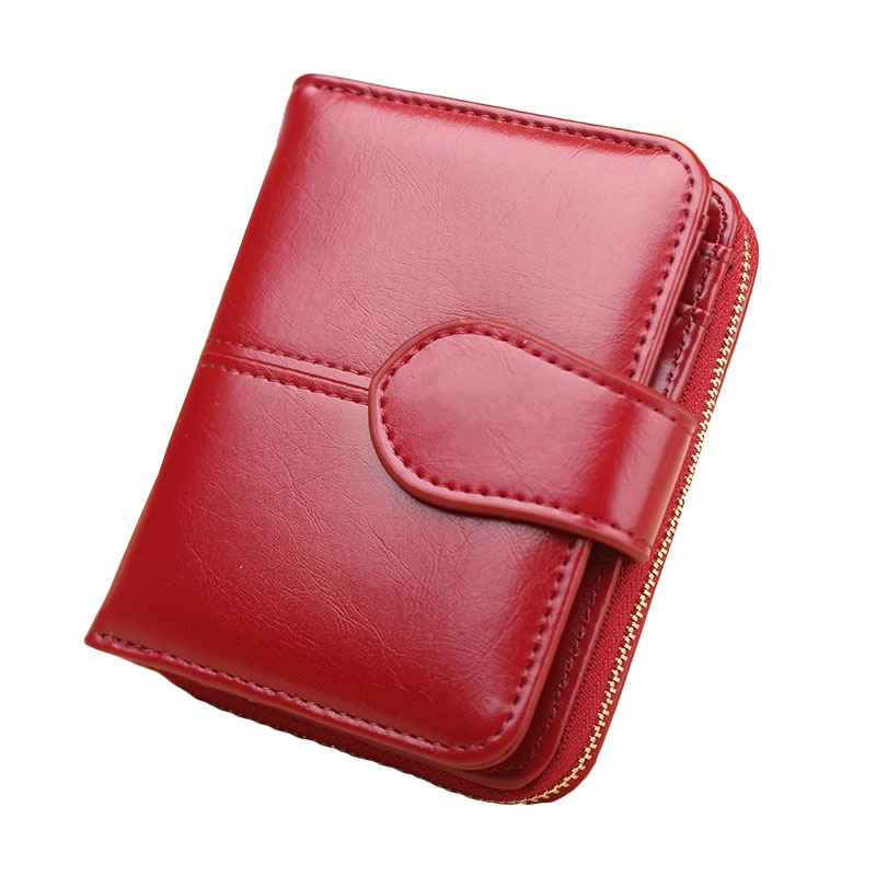 Baellery Small Wallet Women Fashion PU Leather Vallet Female Purse High Capacity Money Bag Ladies Coin Pocket Wallet Yellow Red