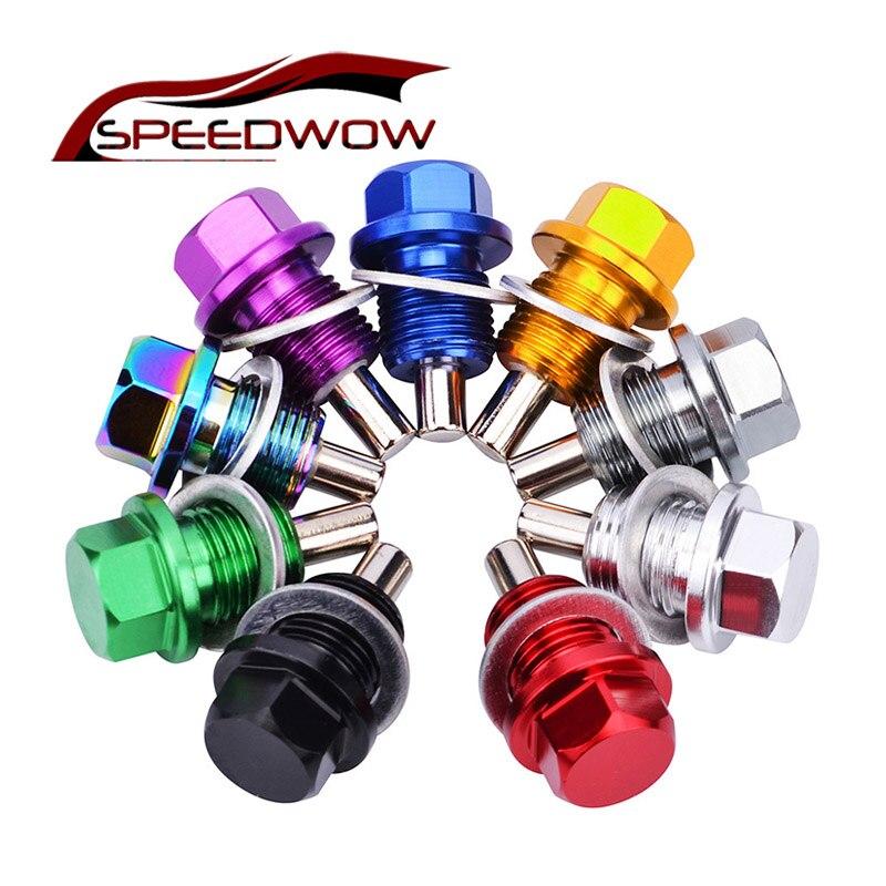 Speedwow m12 * 1.25 m12 * 1.5 m12 * 1.75 m14.1.25 m14 * 1.5 porca magnética da tomada do óleo da porca do cárter de óleo magnético para bmw