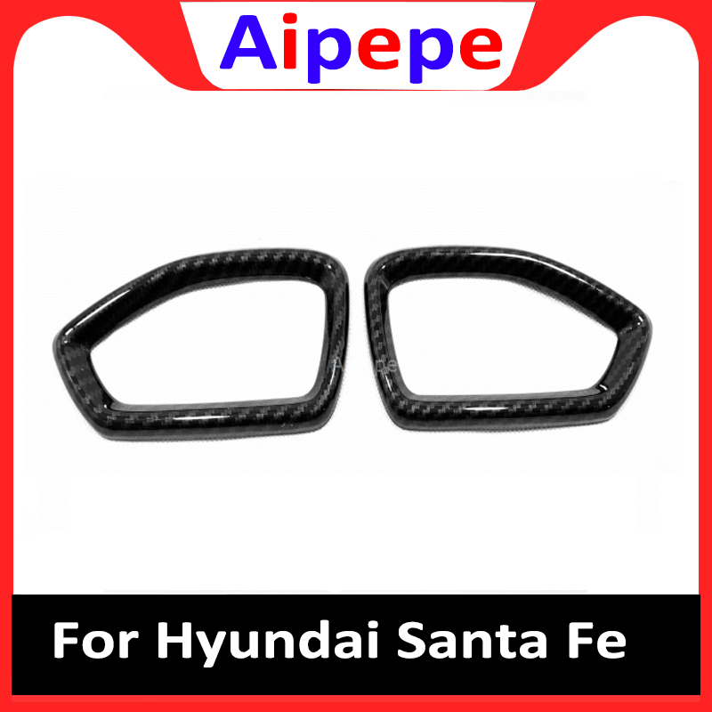 For <font><b>Hyundai</b></font> <font><b>Santa</b></font> <font><b>Fe</b></font> <font><b>2019</b></font> 2020 Carbon Fiber Air Flow Vent Cover Trim Air Condition Outlet Sticker Inner Accessories Car Styling image