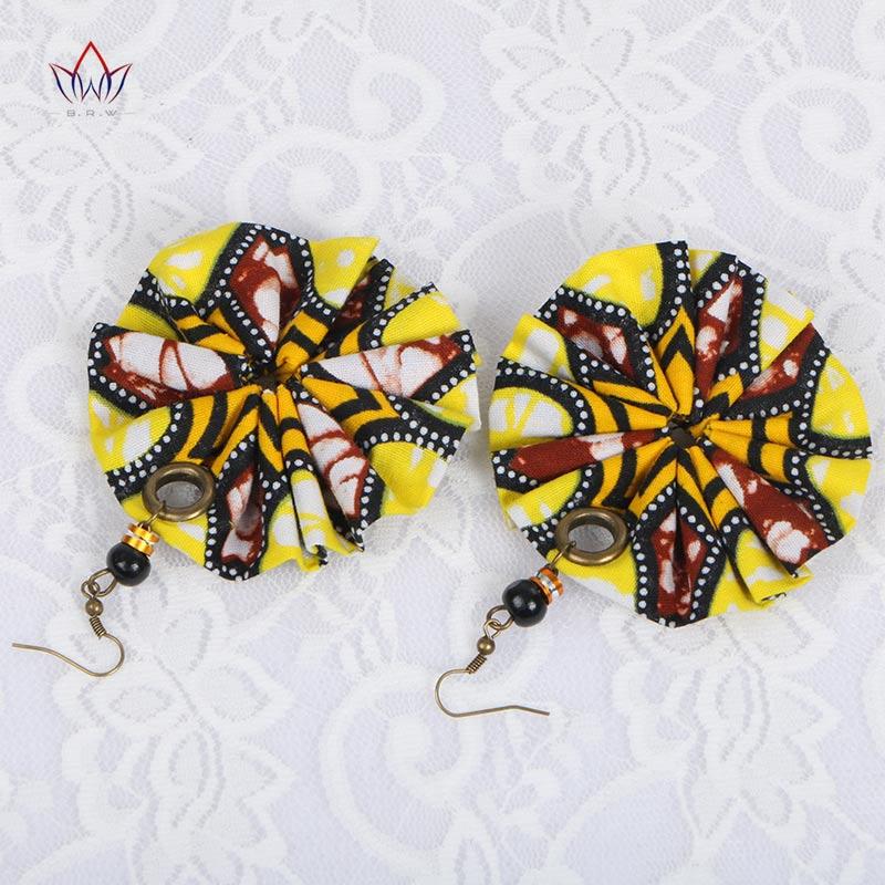 BRW 2020 stof blomster afrikanske øreringe store øreringe håndlavede øreringe afrikanske Ankara smykker afrikansk print øreringe WYA151