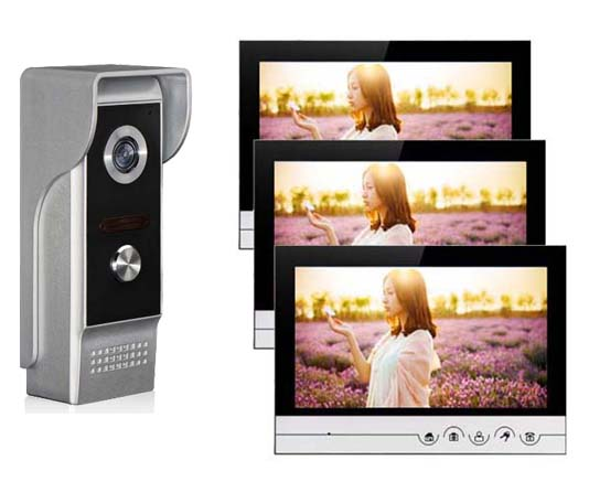 XINSILU Intercom Doorbell Home Security System 9Color Video Door Phone Touch Key Monitor w/t SD Card Slot IR HD Camera 1V3