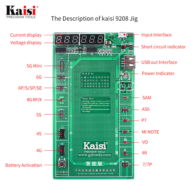 Huawei Samsung xiaomi, plaque dactivation de la batterie du téléphone, gabarit de câble USB de charge pour iPhone, 4 8X, Huawei, Test du Circuit