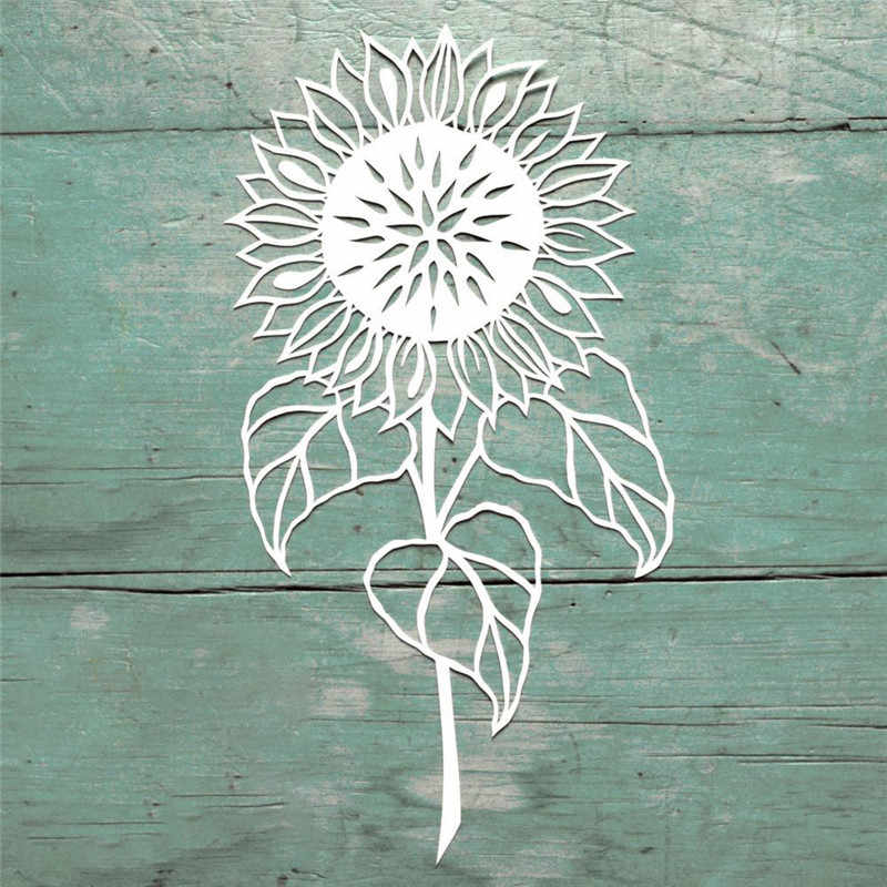 YaMinSanNiO 1 Pcs/lot Metal Cutting Dies Scrapbooking for Card Making DIY Embossing Cuts New Craft Die Sunflower Flower