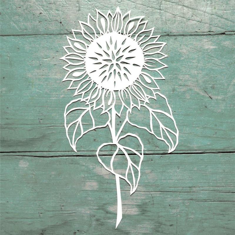 YaMinSanNiO 1 Pcs/lot Metal Cutting Dies Scrapbooking For Card Making DIY Embossing Cuts New Craft Die Sunflower Flower
