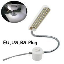 Working Gooseneck Lamp 30 Leds, with Magnetic Mounting Base for Home or Sewing Machine