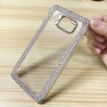 Rhinestone Crystal Bling Case For Samsung Galaxy A3 2016 A5 A7 Glitter Cute Luxury 3D Diamond Cover Phone Coque Fundas
