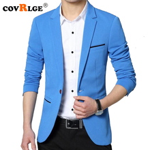 Covrlge 2018 Spring Autumn New Men Blazer Fashion Slim Fit Male Suit Jacket Coat Elegant Mens Dress Clothes Wedding Coat MWX013