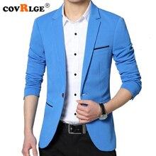 Covrlge 2018 весна осень новый мужской блейзер модный приталенный мужской костюм куртка пальто элегантное мужское платье одежда свадебное пальто MWX013
