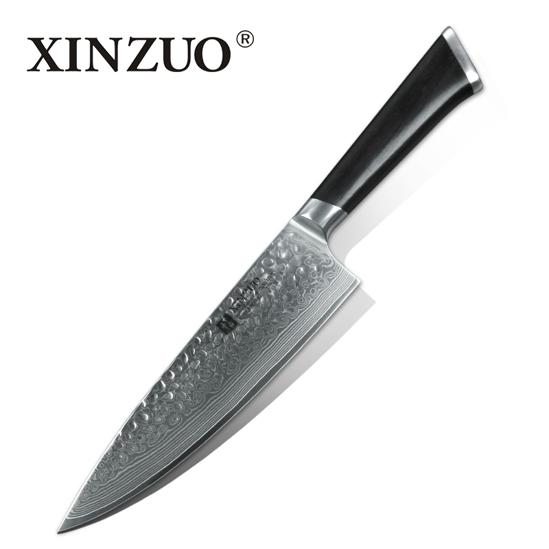 XINZUO NEW 8  chef knife 67 layer Japanese Damascus steel kitchen knife senior meat gyuto knife chef cutter ebony wood handle