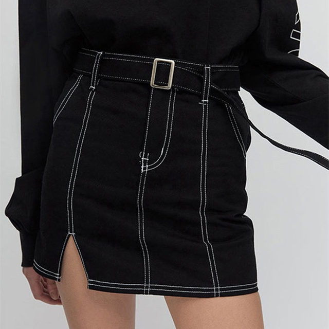 94f8f9f439 2018 Harajuku Korean K POP 5252 by O!Oi Skirt Mini Skirt Streetwear Split High  Waisted Skirts Women Denim Skirts Plus Size-in Skirts from Women's Clothing  ...