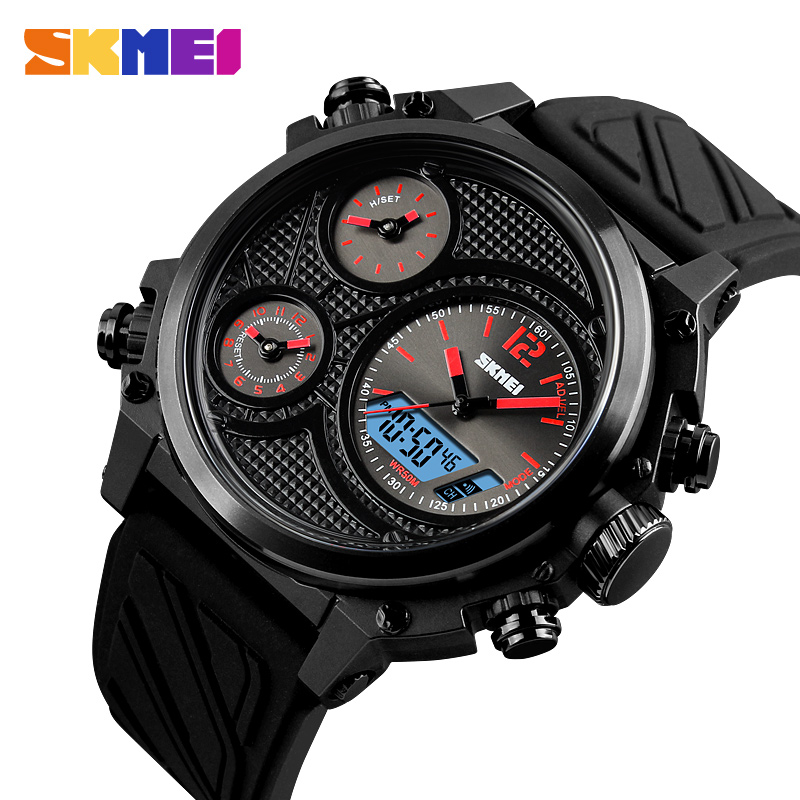 2018 SKMEI Luxury Brand Men Sport Watch Men Analog Digital Wristwatches Waterproof 24 hour Date Quartz Watches erkek kol saati
