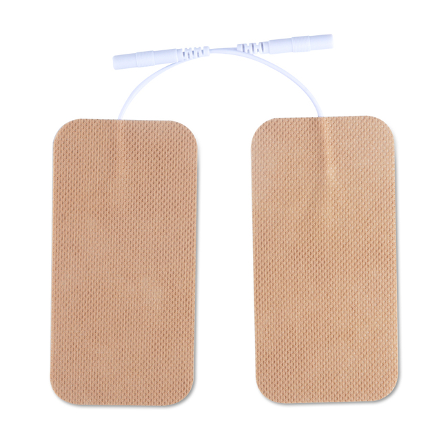 10 Pairs TENS Electrodes Pads 5*10cm With Plug Hole 2.0mm For TENS/EMS Machines