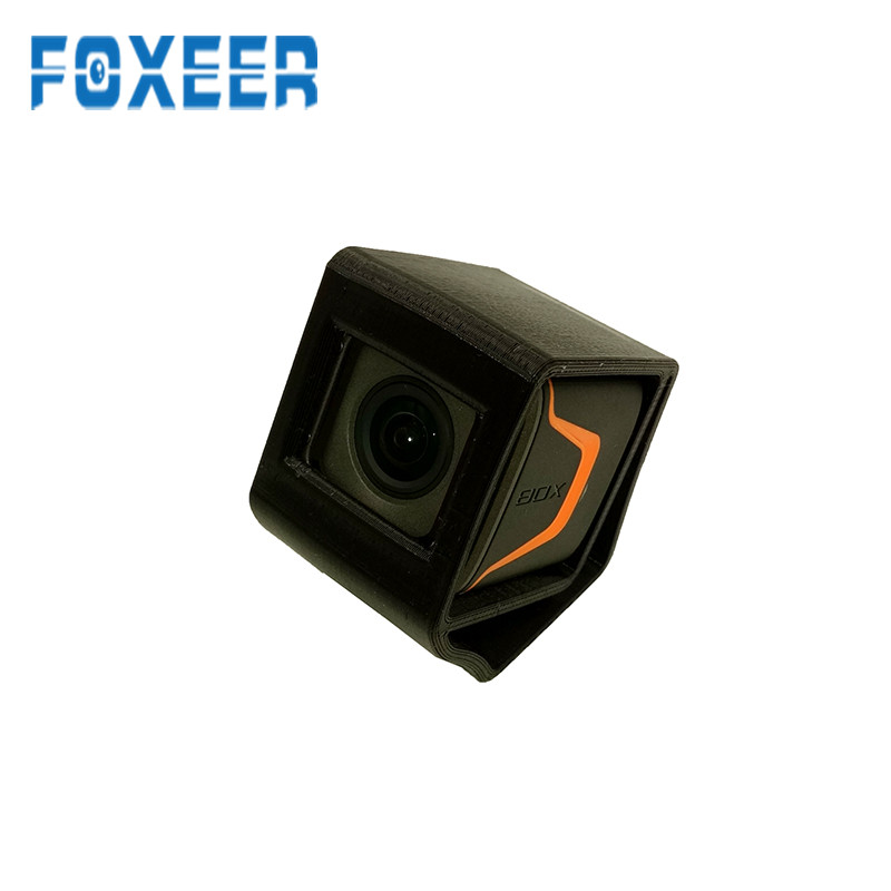 Foxeer BOX 30 Degree TPU Camera Mount Spare Part Black/Red/Orange Case 40x62x57mm For RC Toy Models for Foxeer BOX FPV Camera orange box with cs1 6