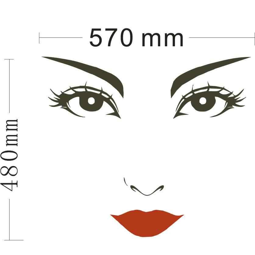 Femmes Visage Clipart Coupe Cils Femme Visage Clipart Decor Rouge Fonce Cips Peut Enleve Protection De L Environnement J929 Aliexpress