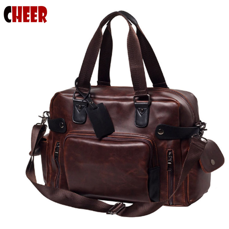 Men s font b bags b font handbag Handy men s Multifunction fashion large capacity shoulder