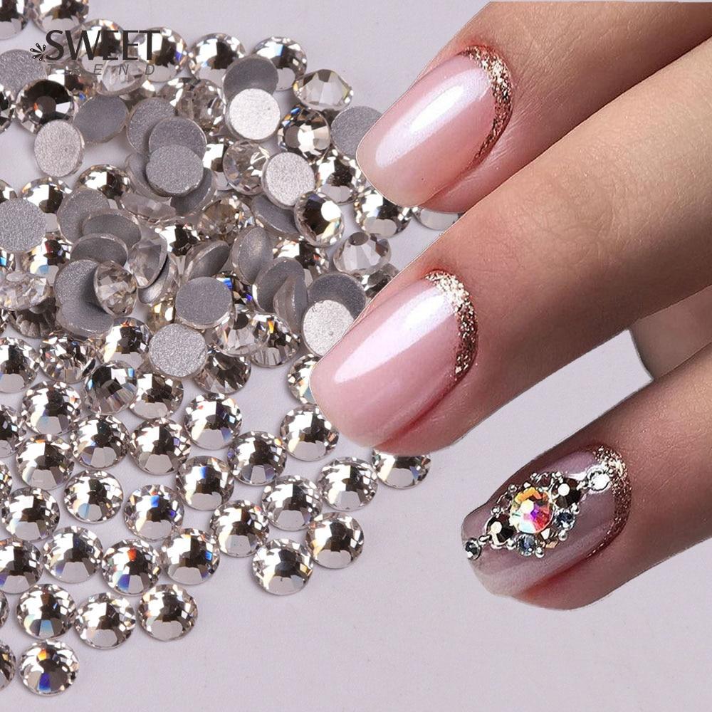 1440pcs Crystal Rhinestones Flatback Non Hotfix Shiny Nail Stones 3D Gems  Nail Art Decorations for DIY Nails Rhinestones LA541-in Rhinestones    Decorations ... 3ecdfd3e3e19