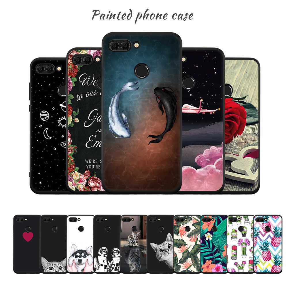 Printing Phone Case For Huawei P20 Lite Pro Mate 10 Pro Y9 2018 Enjoy 8 Plus P10 P8 P9 Lite 2017 Floral Cover For Honor 9 8 Lite