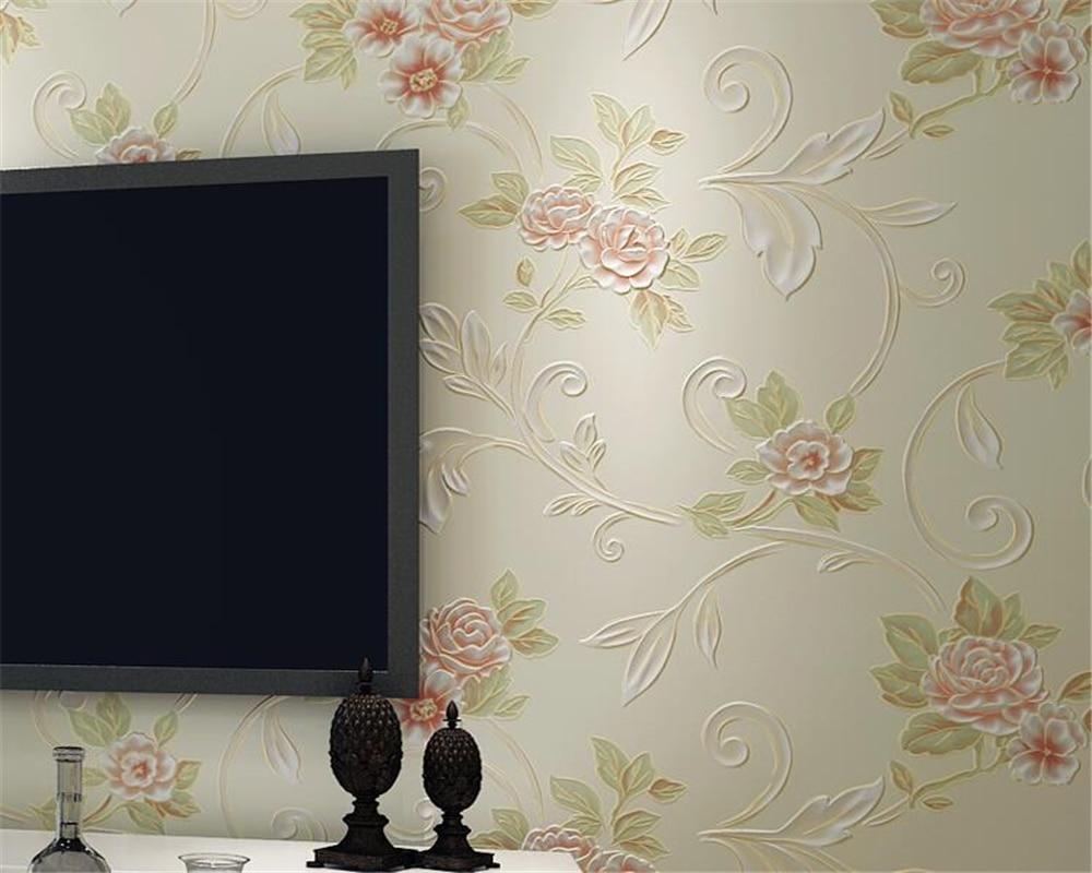 Beibehang papier peint pour murs 3 d HD bronzant chaud européen papier peint pastorale salon chambre fond 3D papier peint rouleau - 5