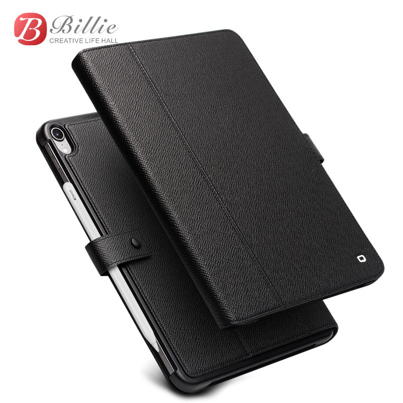 QIALINO Genuine Leather Ultrathin Case For iPad Pro 12 9 2018 Flip Stents Dormancy Stand Cover