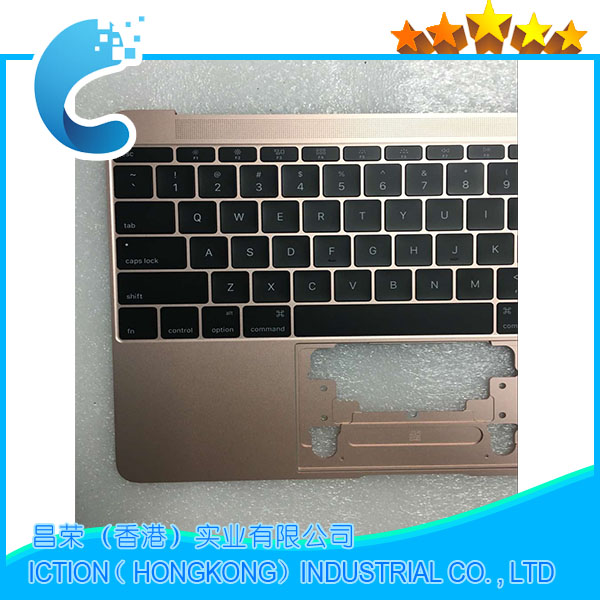 Original A1534 Topcase For Macbook Pro 12 A1534 Topcase With Keyboard Upper Top Case US Layout 2016 Years Rose Gold color topcase apple new macbook 12 chevron series keyboard cover silicone skin for macbook 12 inch with retina display model a1534 newest version 2015