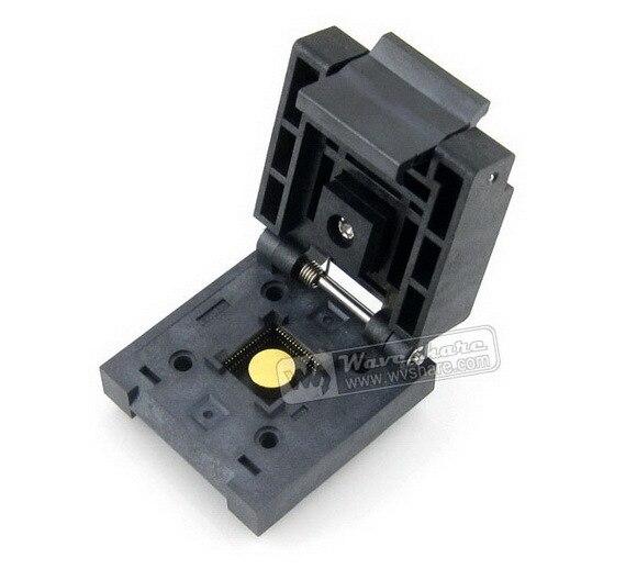все цены на Free Shipping QFN-64BT-0.5-01 Enplas IC Burn-in Test Socket Adapter 0.5mm Pitch QFN64 MLP64 MLF64 Package онлайн