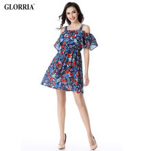 Glorria 2017 Summer Women Suspender Tunic Ruffled Dress Hollow Out Spaghetti Strap Dresses Sexy Casual Fashion Beach Vestidos