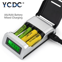 YCDC Universal AA AAA Charger 4 Slots LCD Display Smart Intelligent C905W Battery Charger For NiCD