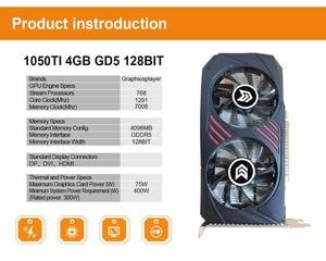 Image 5 - กราฟิกการ์ด PCI E GDDR5 Motherboard วิดีโอ carte วิดีโอการ์ด NVIDIA GTX GTX1050TI 4GB /4096MB