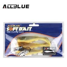 ALLBLUE 3pcs/lot 9g/11cm Bicolor Soft Bait Fish Fishing Lure Shad Silicone Bass Minnow Bait Swimbaits Plastic Lure Pasca