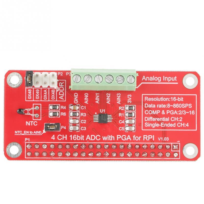 UK First Class ADS1115 I2C 4 Channel 16bit ADC+PGA Module Arduino Raspberry Pi
