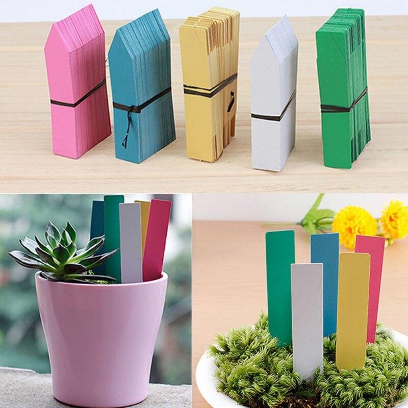 100 Stücke Garten Kunststoff Pflanze Etiketten 4 Zoll Anlage Tag Garten Ornamente Gardening Aufkleber Kindergarten Blume Tag Heißer