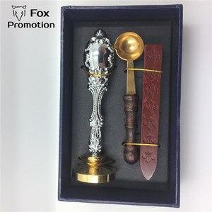 Image 4 - Caja de regalo de sello de cera personalizada cuchara de latón de sello de cobre, juego de sellos de sello antiguo de regalo de liga de bricolaje, vintage y de alta calidad