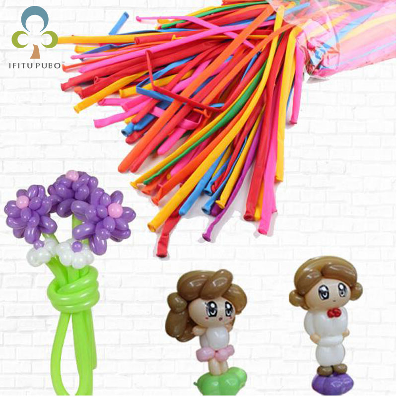 50pcs/bag Long magic balloon can be prepared DIY Mixed color mixing long balloon party decorations LYQ