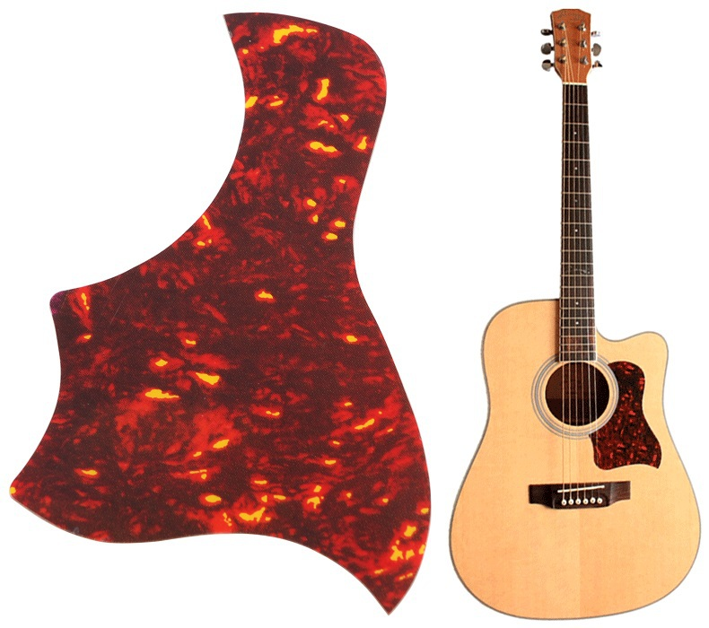 MSOR Alice Flame Acoustic Guitar Pickguard Sticker For Guitar Pick Guard Size 40 41 42 Guitarra