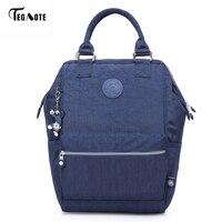 TEGAOTE Nylon Backpack Students School Bag For Teenage Girls Boys Backpacks Street Fashion Rucksack Laptop Bagpack Female