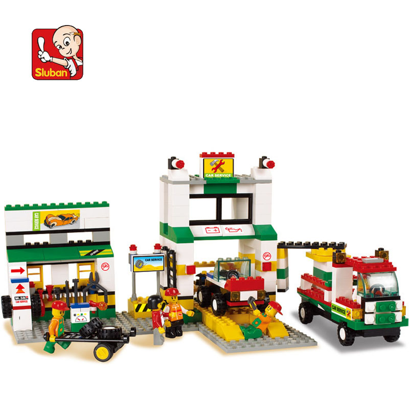model building kits compatible with lego city gas station 1082 3D blocks Educational model & building toys hobbies for children все цены