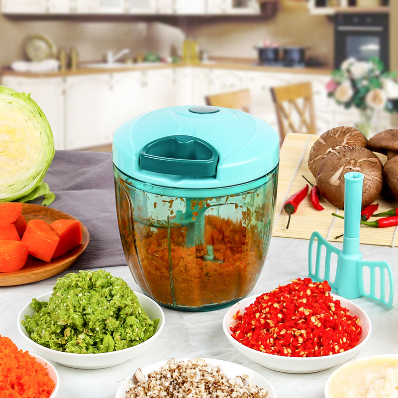 Multifunction Vegetable Chopper Cutter 850ML Processor Chopper Garlic Cutter Vegetable Fruit Twist Shredder Manual Grinder ...